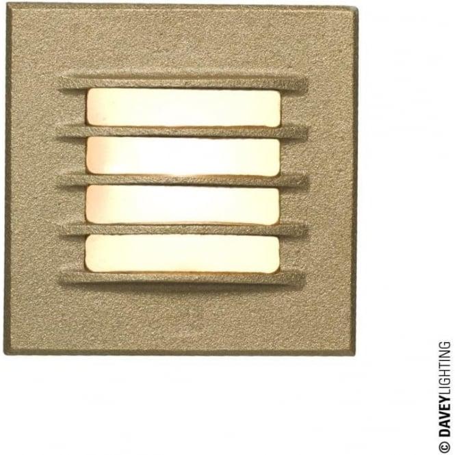 Davey Lighting 7600 Recessed Step Light, Low Voltage, Sandblasted Bronze, IP20