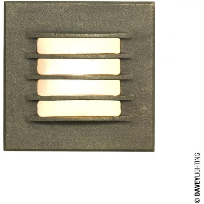 Davey Lighting 7600 Recessed Step Light, Low Voltage, Weathered Bronze, IP20
