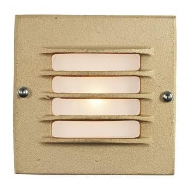 7601 Recessed Step Light, Low Voltage, Transformer & Back Box, Sandblasted Bronze, IP54