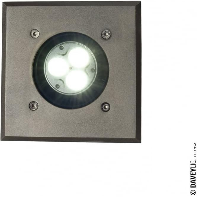 Davey Lighting 7602 Uplight for Submerged or Surface use, GU10, Weathered Brass