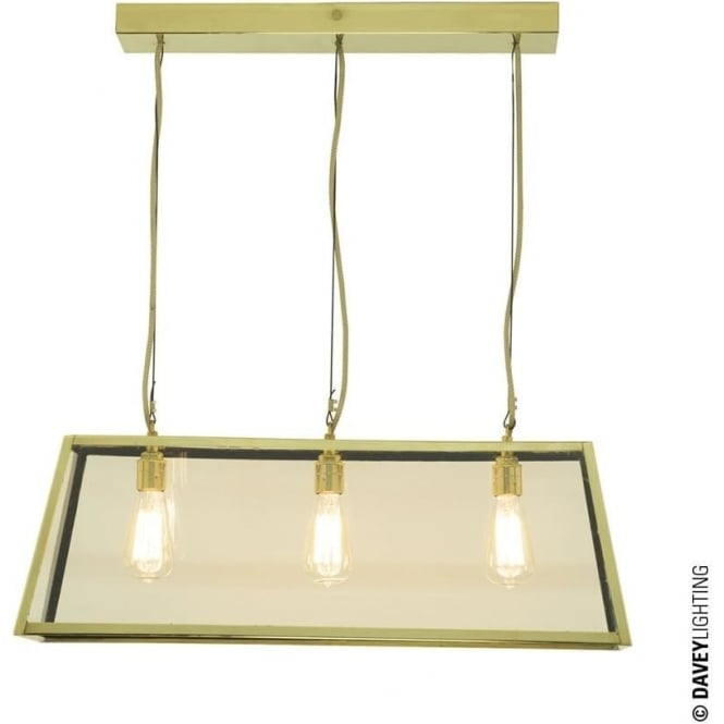 Davey Lighting 7632 Diner, Internally Glazed 75, Polished Brass, Clear glass