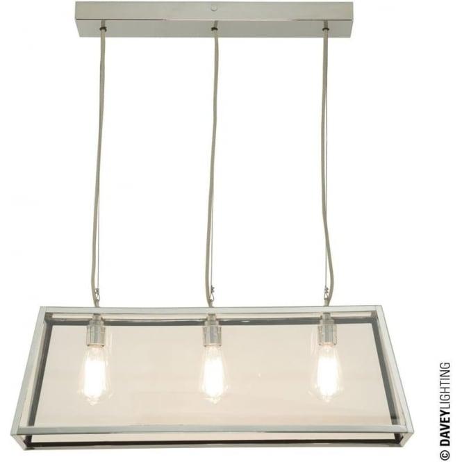 Davey Lighting 7632 Diner, Internally Glazed 75, Polished Nickel, Clear glass