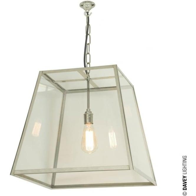 Davey Lighting 7636 Quad Pendant, Large, Satin Nickel, Clear