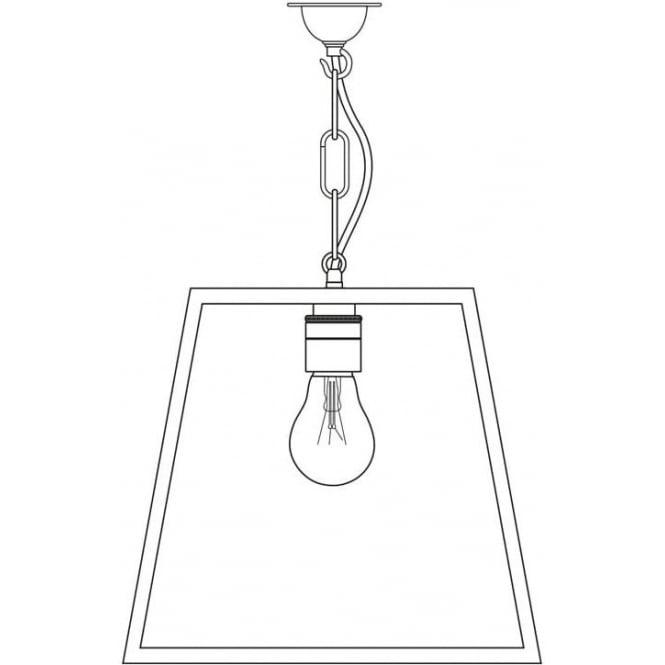 Davey Lighting 7636 Quad Pendant, Medium, Polished Nickel, Clear