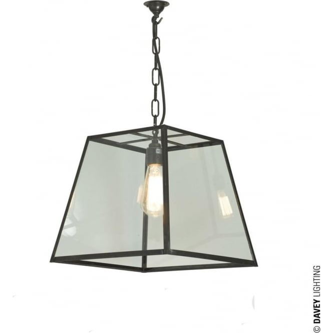 Davey Lighting 7636 Quad Pendant, Medium, Weathered Brass, Clear