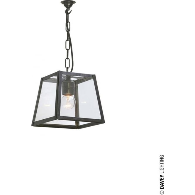 Davey Lighting 7636 Quad Pendant, Small, Weathered Brass, Clear