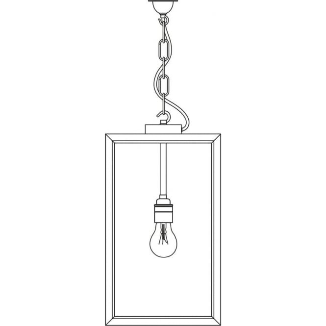 Davey Lighting 7638 Exterior Square Pendant, Medium, Weathered Brass, Frosted