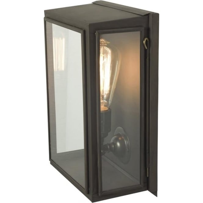 Davey Lighting 7641 Small Wall Box, Weathered Brass, Clear