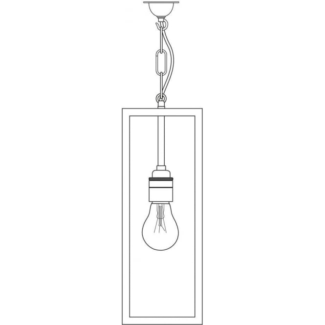 Davey Lighting 7650 Box Pendant Light, Weathered Brass, Frosted