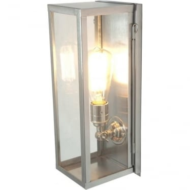 7650 Narrow Box, Internally Glazed Clear, Satin Nickel