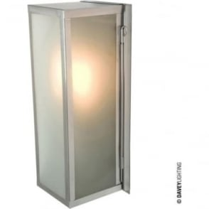 7650 Narrow Box, Internally Glazed Frosted, Polished Nickel