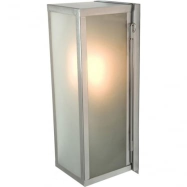 7650 Narrow Box, Internally Glazed Frosted, Satin Nickel