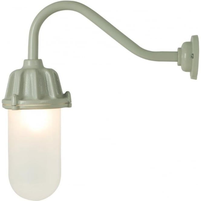 Davey Lighting 7674 Dockside Wall Light, No Reflector, Putty Grey, Frosted