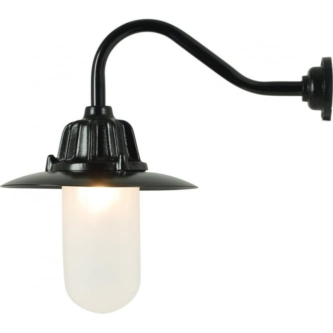 Davey Lighting 7675 Dockside Wall Light, With reflector, Black, Frosted