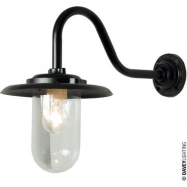 7677 Exterior bracket light, 100W, Swan Neck, Black - Clear
