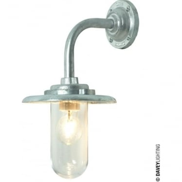 7677 Exterior Bracket Light 60W, Round Base, Galvanised, Clear