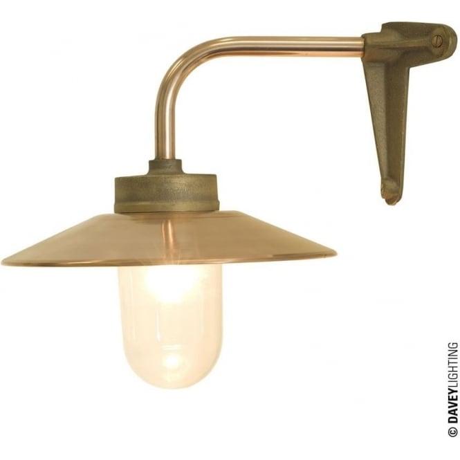 Davey Lighting 7680 Exterior Bracket Light, Right Angle, Corner Fork, Gunmetal, Clear