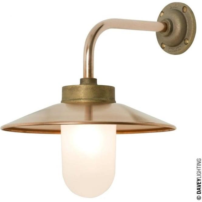 Davey Lighting 7680 Exterior Bracket Light, Right Angle, Round Base, Gunmetal, Frosted