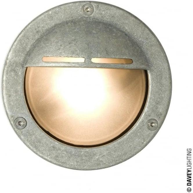 Davey Lighting 8035 Miniature Round Bulkhead, Eyelid Shield, GX53, Aluminium