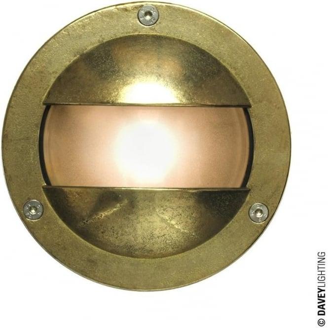 Davey Lighting 8037 Miniature Round Bulkhead, Double Shield, G9, Brass