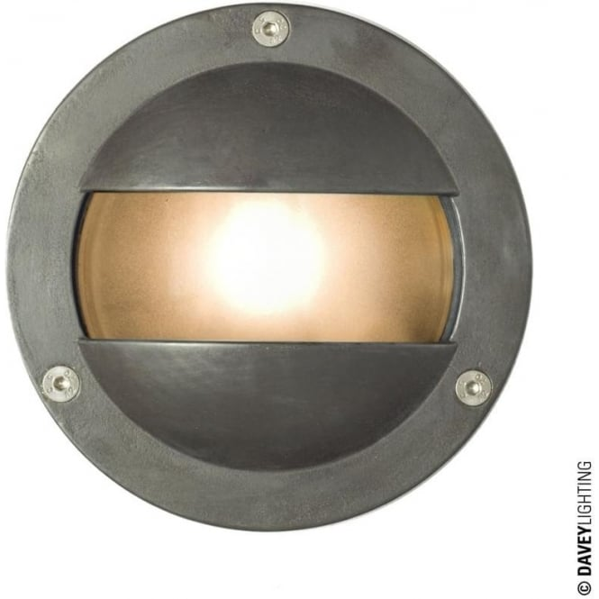 Davey Lighting 8037 Miniature Round Bulkhead, Double Shield, G9, Weathered Brass