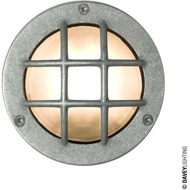 Davey Lighting 8038 Miniature Round Bulkhead, Cross Guard, GX53, Aluminium