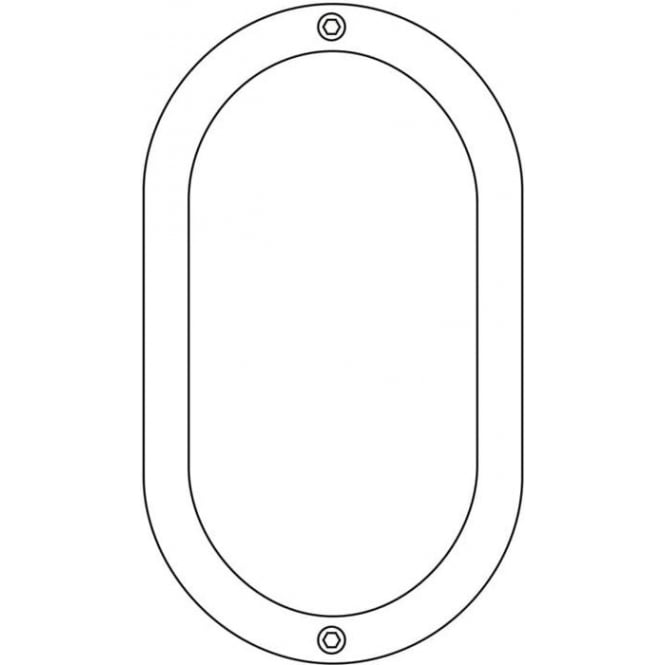 Davey Lighting 8124 Oval Bulkhead, Unguarded, Small, Brass, E27
