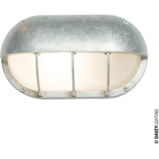 Davey Lighting 8125 Oval Aluminium Bulkhead with Eye Shield, E27