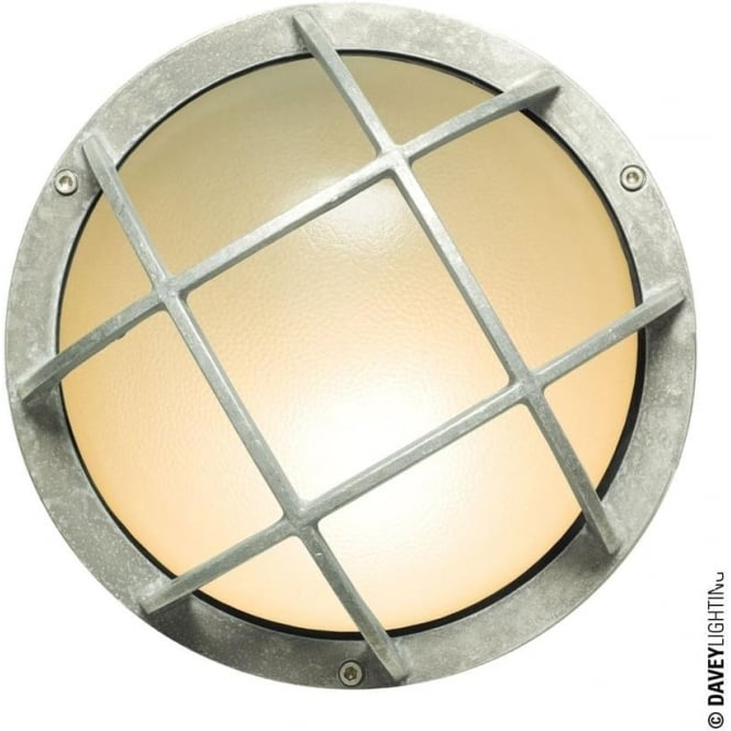 Davey Lighting 8138 Circular Bulkhead with Guard, Aluminium, E27