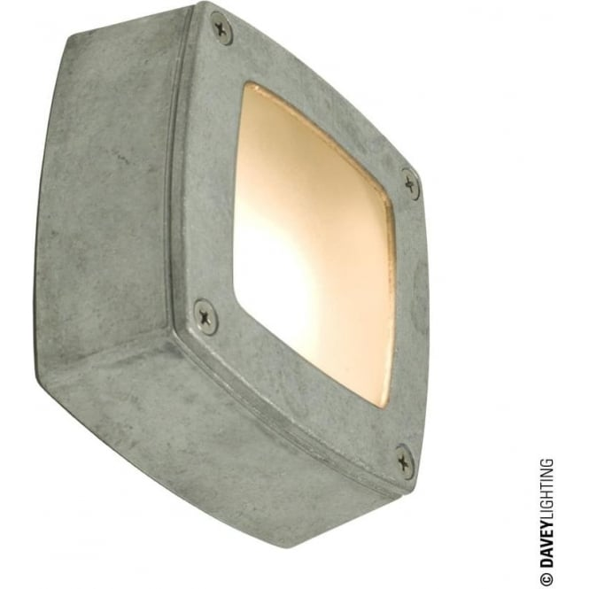 Davey Lighting 8139 Wall, Ceiling or Step Light, Square, Plain Bezel, Aluminium