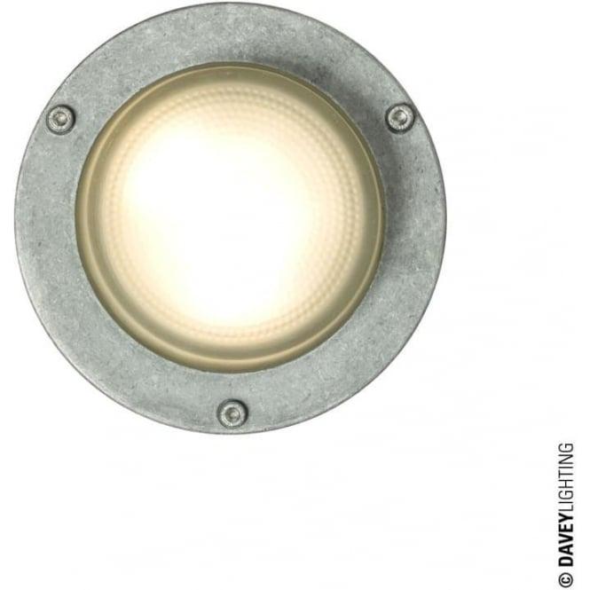 Davey Lighting 8504 Wall, Ceiling or Step Light, Round Plain Bezel, Aluminium, GX53