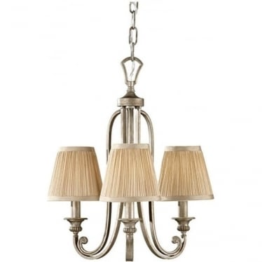 Abbey 3 Light Chandelier Silver Sand