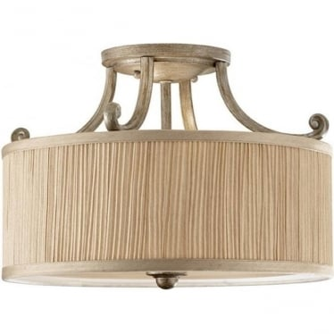 Abbey semi- flush fitting Silver Sand