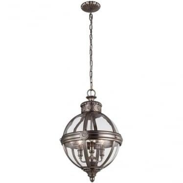 Adams 3 light Pendant Chandelier Antique Nickel