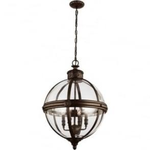 Adams 4 light Pendant Chandelier British Bronze
