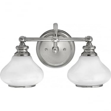 Ainsley 2 Light Bathroom LED Wall Light IP44 Polished Chrome