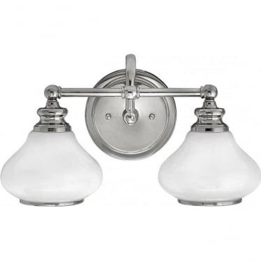 Ainsley 2 Light Bathroom LED Wall Light IP44 Polished Chrome