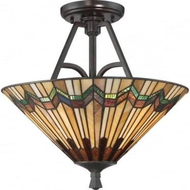Alcott Large Semi Flush Ceiling Light Valiant Bronze
