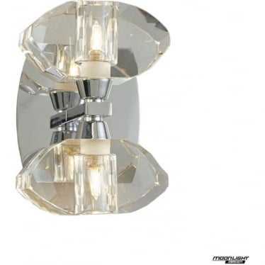 Alfa 2 Light Wall Fitting Switched Polished Chrome