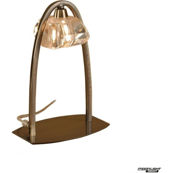 Mantra Alfa Single Light Large Table Lamp Antique Brass