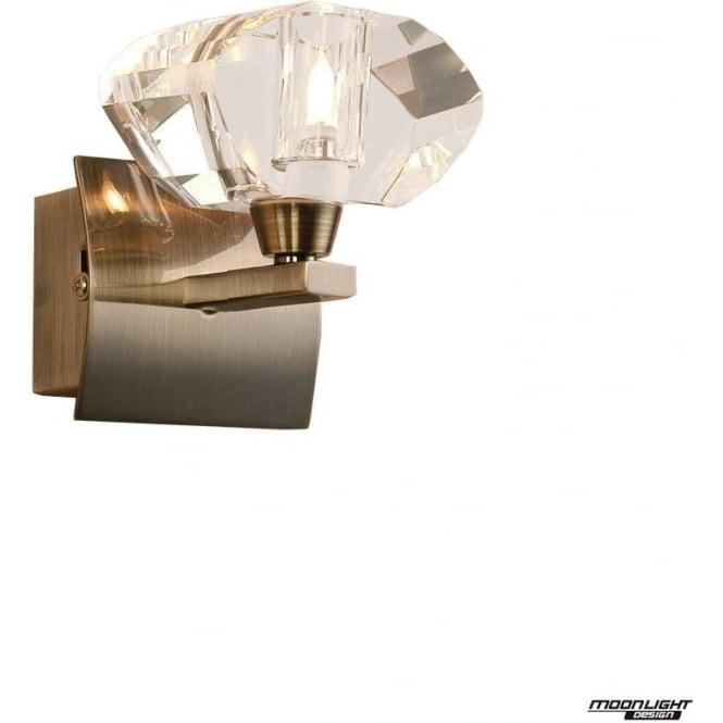 Mantra Alfa Single Light Wall Fitting Antique Brass