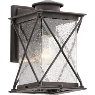 Argyle Small Outdoor Wall Light Weathered Zinc