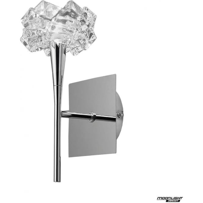 Mantra Artic Single Light Wall Fitting Switched Polished Chrome