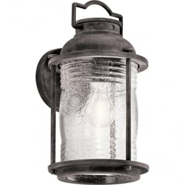 Ashland Bay Medium Wall Lantern Weathered Zinc