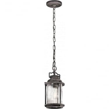 Ashland Bay Small Chain Lantern Weathered Zinc