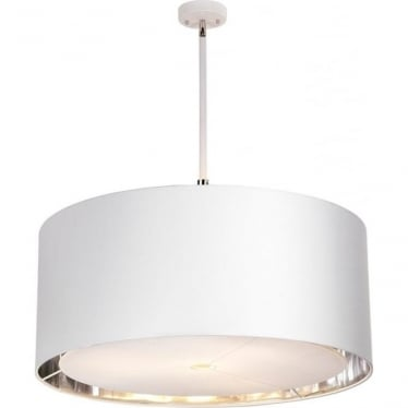 Balance Extra Large Pendant White/Polished Nickel