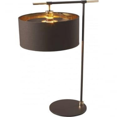 Balance Table Lamp Brown/Polished Brass