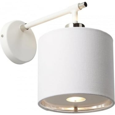 Balance Wall Light White/Polished Nickel