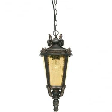 Baltimore Chain Lantern Large - Weathered Bronze