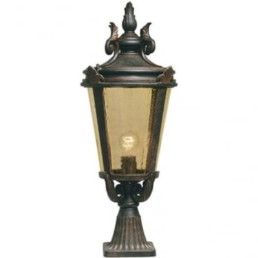 Baltimore Pedestal Lantern Large - Weathered Bronze